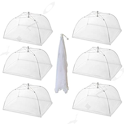 YINO Large Pop Up Mesh Screen Food Cover Tents,17 Inch (6 Pack)