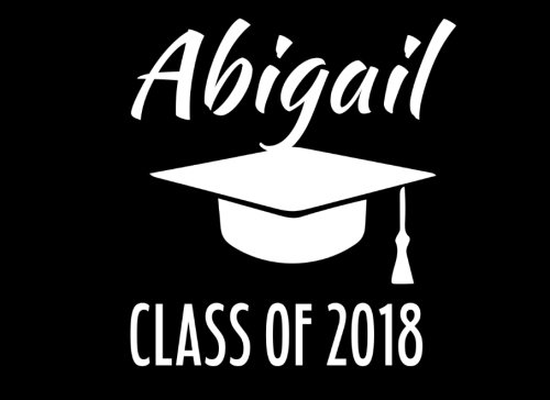 Abigail Class Of 2018: Graduation Cap Guest Book For Party, Personalized Gift. Graduate Advice or Autograph Book Unlined. (Tassel Zone) Abigail Caps