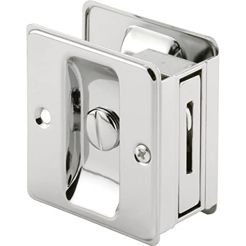 Slide-Co 161887 Pocket Door Privacy Lock with Pull, Chrome Plated by Slide-Co