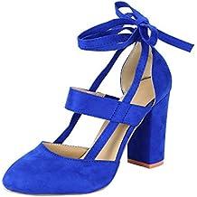 31820efd972 Amazon.es  zapatos azules mujer tacon