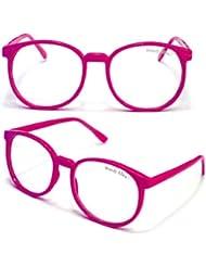 WOODY Nerdbrille Grosse Gläser (Pink)
