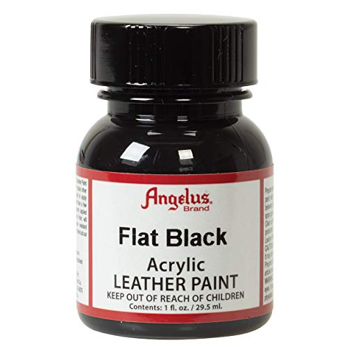 Angelus Acryl Leder Farbe 29,5ml / Angelus Acrylic Leather Paint 1oz (Matt Schwarz / flat black) (Angelus Farbe Schwarz Leder)