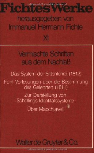 Werke, 11 Bde., Bd.11, Vermischte Schriften aus dem Nachlaß