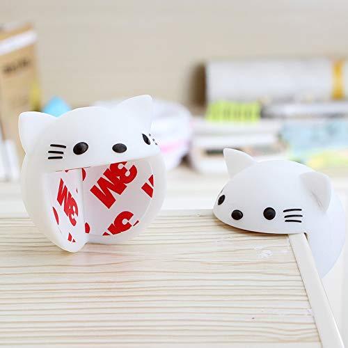 y,1 Stücke Baby Stoßstange,toßschutz Tisch Möbel Kanten,Stoßschutz Tisch Möbel Kanten,Silicone Schutzkanten Baby Kindersicher Weißes Kätzchen Über 4CM ()