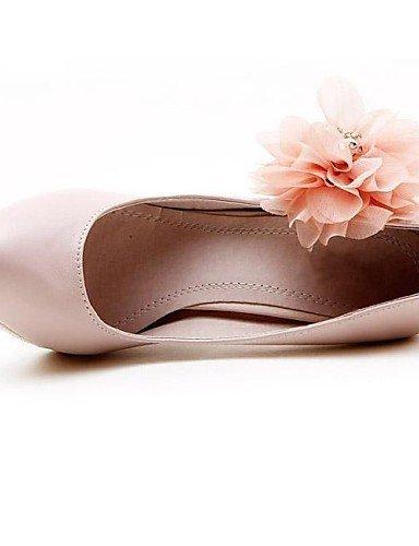 ShangYi Schuh Leder-Frauen Hochzeit Stiletto Pumps mit Blume und Strass Mode Schuhe Pink