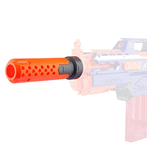 Riva776Yale Silenziatore ,Raccordi Decorativi sul Tubo Anteriore per Nerf Stryfe / Rapidstrike / Retaliator / Nerf Modulus Regulator e Nerf N-Strike Elite Infinus - Arancione + Grigio