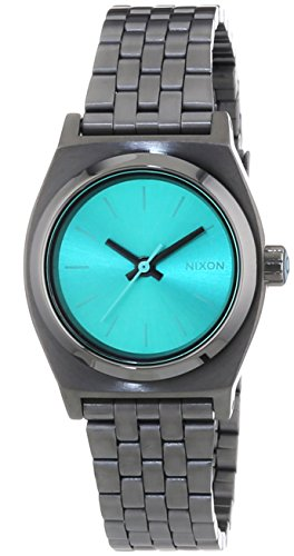 nixon-small-time-teller-gunmetal-light-blue-reloj-de-cuarzo-para-mujer-correa-de-acero-inoxidable-co