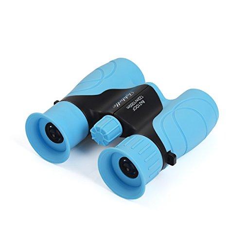 Tyhbelle Mini Kinderfernglas 8 X 21, Robustes Fernglas für Kleine Entdecker in Blau,Grün und Pink...