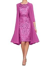 Kleid mit bolero knielang