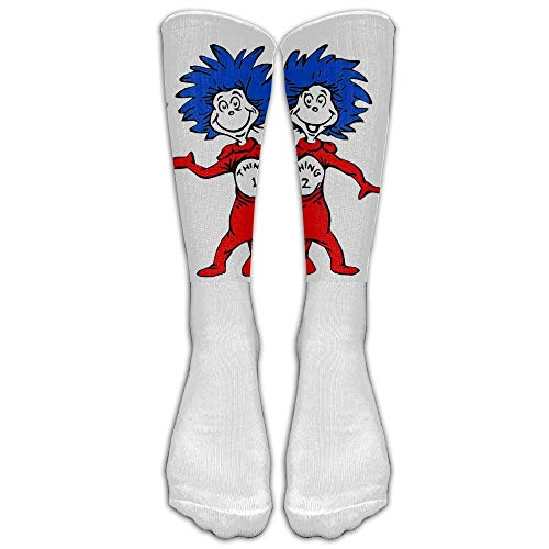jiilwkie New Unisex Thing One and Thing Two Dr Seuss Tube Socks.jpg Athletic Tube Stockings Women's Men's Classics Knee High Socks Sport Long Sock One Size