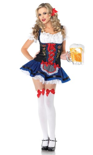 Leg Avenue Flirty Frauline Kostüm  XS, 1 Stück