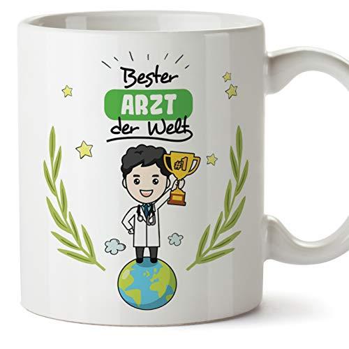 Arzt Tasse/Becher/Mug Geschenk Schöne and lustige kaffetasse - Bester Arzt der Welt - Keramik 350 ml
