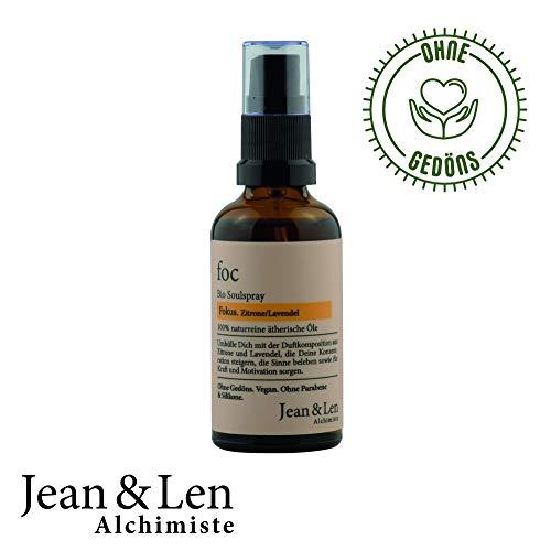 Jean & Len Soulparfum Bio Fokus, Zitrone/Lavendel, für Männer und Frauen, 50 ml, 1 Stück