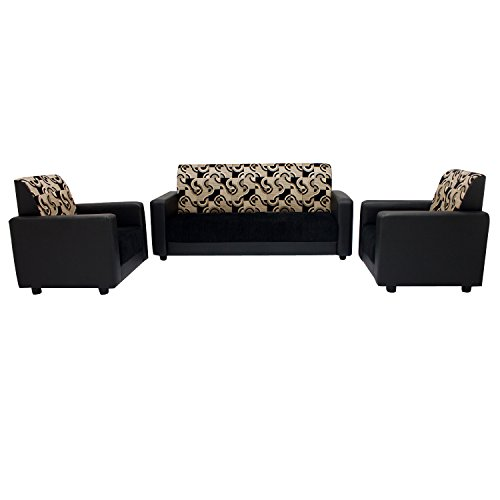 Woodpecker Adams Five Seater Sofa Set 3-1-1 (Black)