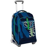 TROLLEY SEVEN TECH - DIAGONAL - Nero Blu - Zaino sganciabile - 34 LT Scuola e viaggio