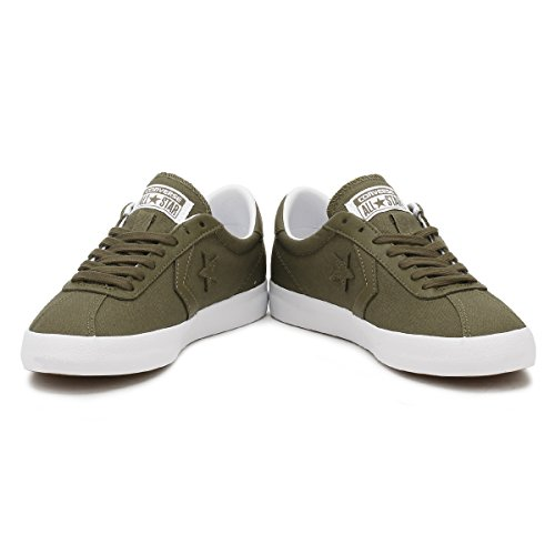 Converse Mens Breakpoint Ox Canvas Trainers Medium Olive