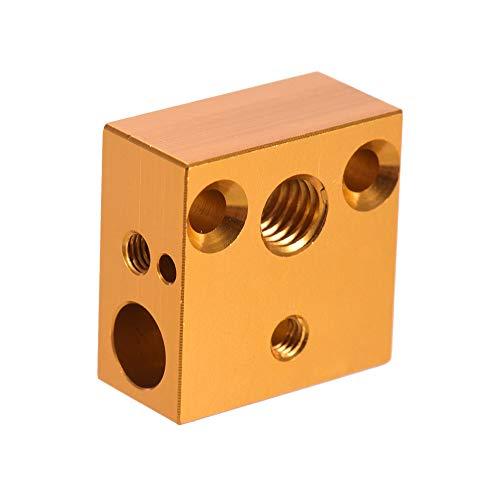 aibecy creality 3d Calentador impresora Block 20* 20* 10mm para creality ender3Extrusor de impresora 3d Nozzle kit hotend