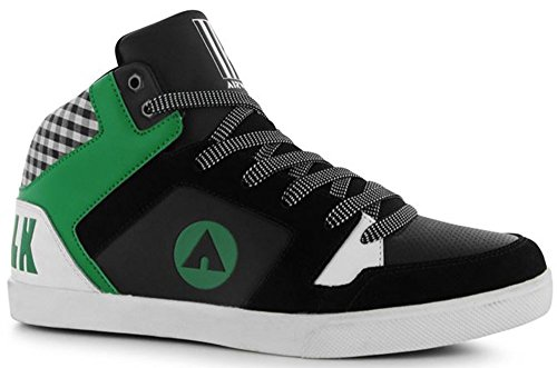 mens-panelled-upper-roxbury-mid-top-style-skate-shoes-10-44-black-green