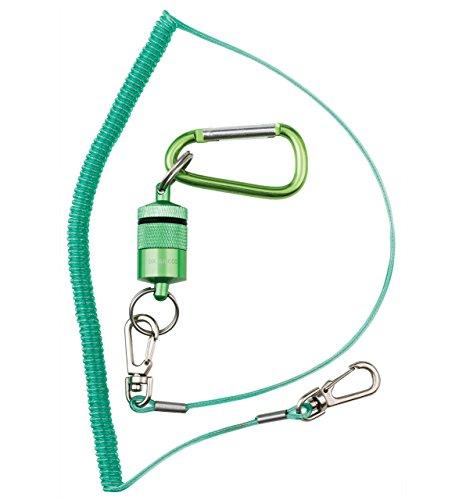 Dr Slick Magnetic Net Holder Full Swivel Lanyard Green (5280) Magnetic Swivel