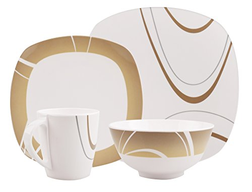 100% Melamin-Geschirr Design Cappuccino braun eckig, wÃ…   04260241466324