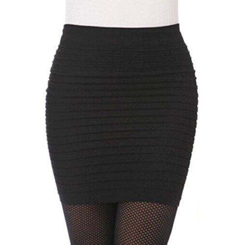 Rcool Mujeres Elástico de Cintura Alta Falda Corta Plisada Cadera del  Paquete (talla única 69a6e3c78710