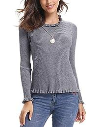 hot sale online 093d0 e39e9 Suchergebnis auf Amazon.de für: Rüschen Pullover - Damen ...