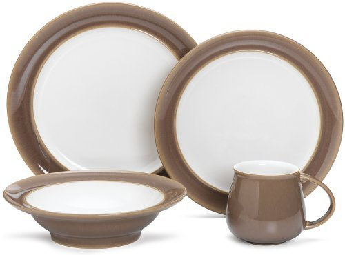 Denby Truffle 4-Piece Place Setting, Service for 1 by Denby -