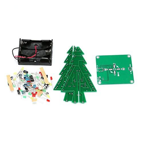 sdfghzsedfgsdfg 3D-Weihnachtsbaum-LED DIY Kit Rot/Grün/Gelb Flash-Schaltungsteile Elektronische Umweltfreundliche Materialien Mehrfarben gemischt