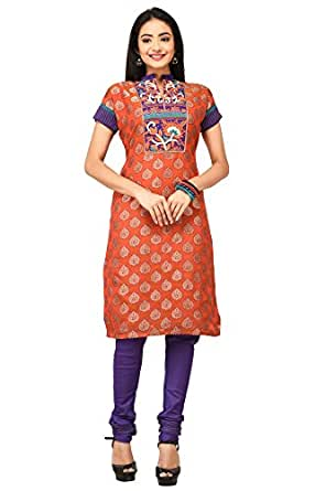 Rene Women's Chanderi Salwar Suit Set