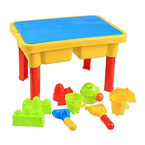 Cooshional 2 in 1 Stone Sand and Water Beach Table Beach Play Accessories Toy Set for Kids