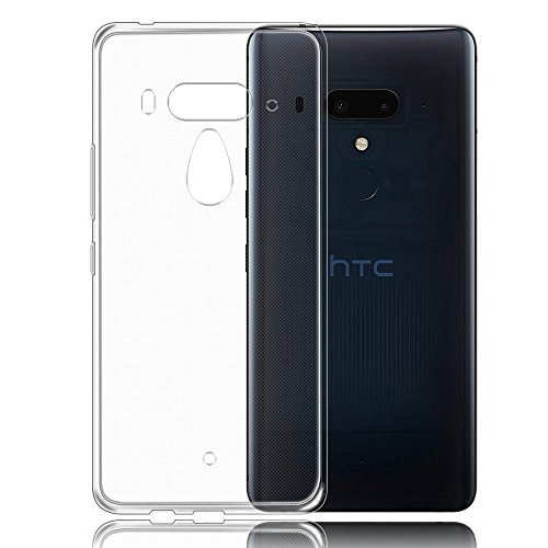 Custodia HTC U12 Plus, AVIDET Gomma TPU Silicone Protettiva Cover Ultra Sottile Leggero Custodia Antigraffio Cover per HTC U12 Plus / U12+ (Trasparente)