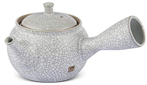 Einhandkanne/Seitenhandkanne Tee- & Kaffeekannen Maoci Teekanne Kyusu Cremeweiss 280ml Kaffee, Tee & Espresso