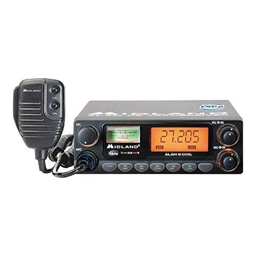 Alan 48 Excel Multi, CB-Mobil-Funkgerät mit ESP 2, Anschluss an 12 Volt