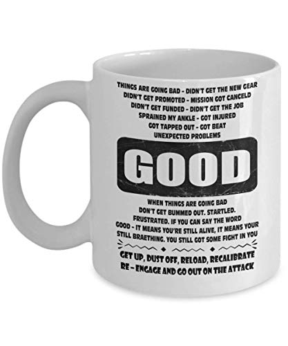 Good get up dust Off Reload recalibrate re-Engage - Jocko Coffee Mug, Funny, Cup, Tea, Gift for Christmas, Father's Day, Xmas, Dad, Anniversary, Mothe