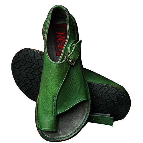 Sfit Damen Platform Sandals Sommer Bequeme Elegante Sandalen Big Toe Hallux Valgus Unterstützung Flach Back-Strap Roma Zehentrenner Hausschuhe Strand Reise Schuhe Strap Platform Schuhe