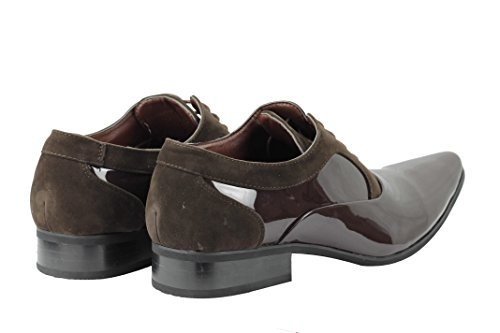 Xposed , Chaussures à lacets homme Brown Patent