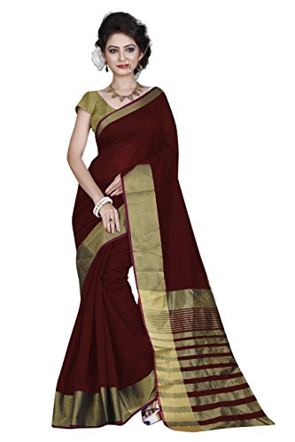 High Glitz Fashion Cotton Saree (SS::HGF1099OA_Red_Free Size)