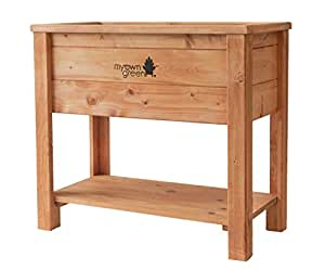 myowngreen hochbeet aus fichtenholz in pinienbraun lasiert kr uterhochbeet gem sehochbeet. Black Bedroom Furniture Sets. Home Design Ideas