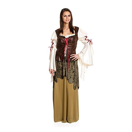 n Hood Kostüm Damen Deluxe Lady Marian Frauen Faschingskostüm große Größe 48/50 (Robin-kostüme Frauen)