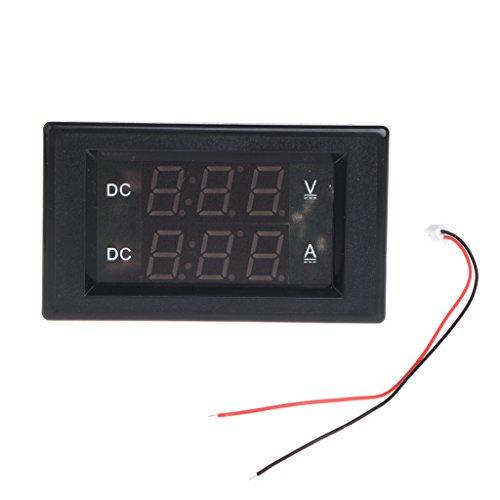 Dual-digital-messgeräte (Jenor DC 100 V 20 A Dual Digital Voltmeter Amp Tester Messgerät rot + grüne LED)