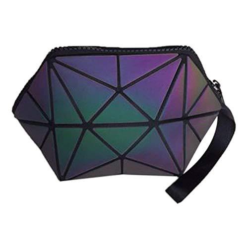 Kosmetiktasche für Make-up, Geometrische Faltbare Rhombus Falten Gitter Würfel Handtasche, Make-up Werkzeug Aufbewahrungsbeutel Geldbörse Kulturbeutel Organizer -