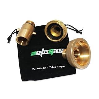 Tankadapter Adapter LPG Autogas Set M22 W21,8 3 Stück+Adaptertasche