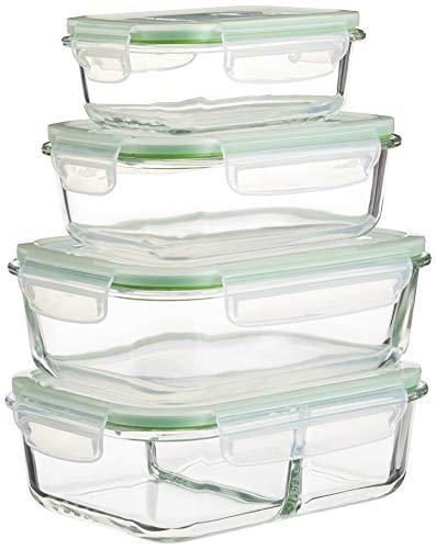 GOURMETmaxx Glas-Frischhaltedosen Klick-it 8-tlg.