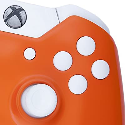 Xbox One Custom Controller - Orange & White Buttons