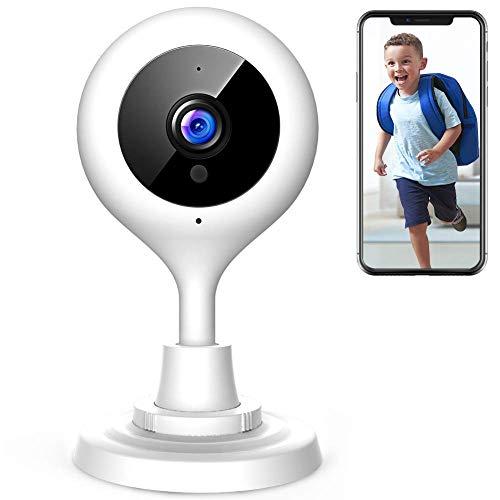 Apeman 1080p telecamera di sorveglianza wifi,telecamera ip di sicurezza wireless obiettivi ruotabile, audio bidirezionale, modalità notturna a infrarossi, compatibile con ios e android e pc