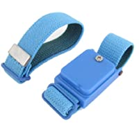 Sourcingmap a13100900ux0266 - Correa para la muñeca de tela azul muñequera elástica antiestática inalámbrico