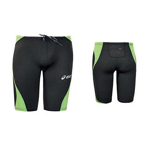 Pantaloncini Unisex Atletica Leggera Running ASICS SPRINTER nero verde T239Z6