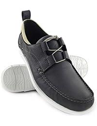 Zerimar. Zapato para caballeros náutico de piel de primera calidad con suela de goma flexible Color azul marino.