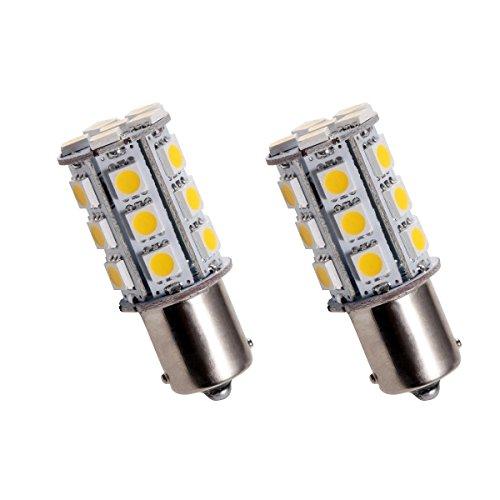 BAU15S24Y - PY21W SMD LED feux lumière clignotant ampoule, flash Indicateurs de direction, lampe, BAU15S 12V Jaune (broches déplacées)