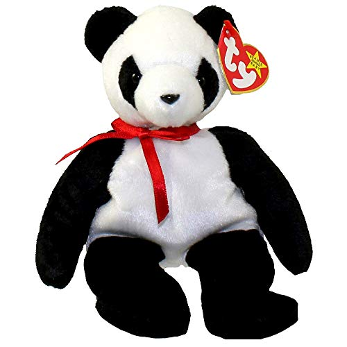 TY Beanie Babies Fortune Panda Bear Plush Toy Stuffed Animal by Unknown